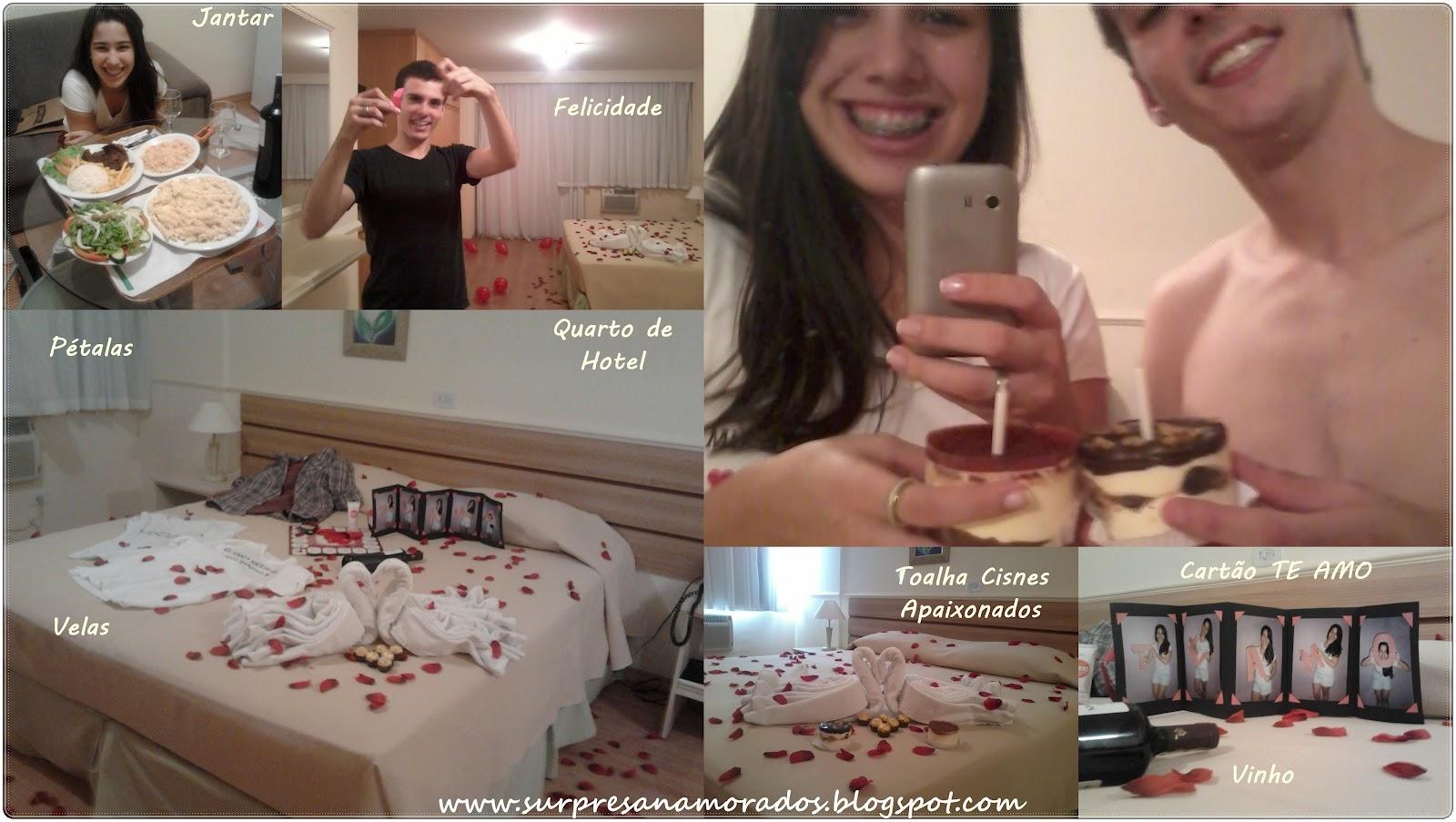 Surpresa no quarto de hotel  Surpresas para Namorados