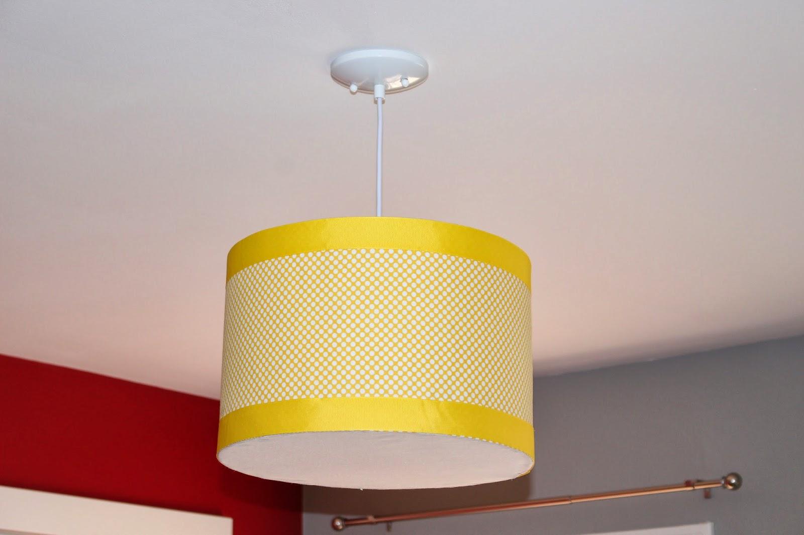 our suburban farm diy pendant drum shade hanging light
