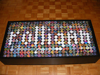 Ramvik table decorated with POGs