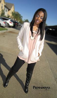 Wear blush and black