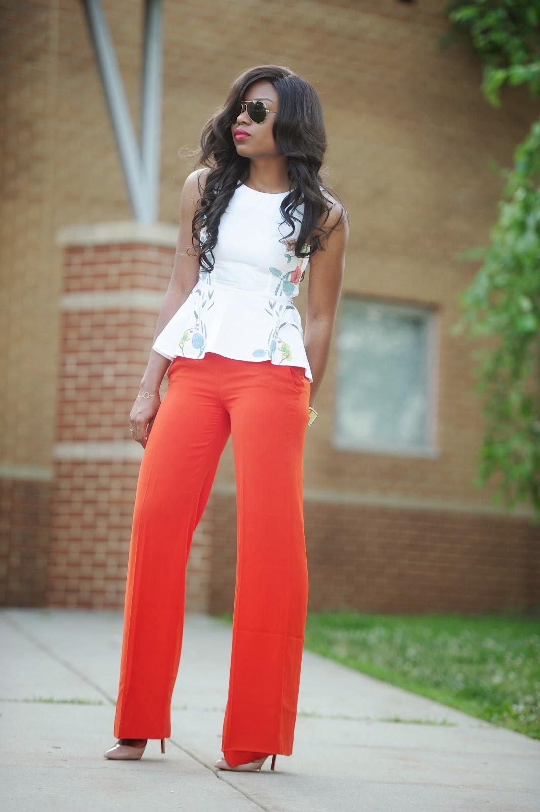 Work Style Wide Leg Peplums Jadore Fashion
