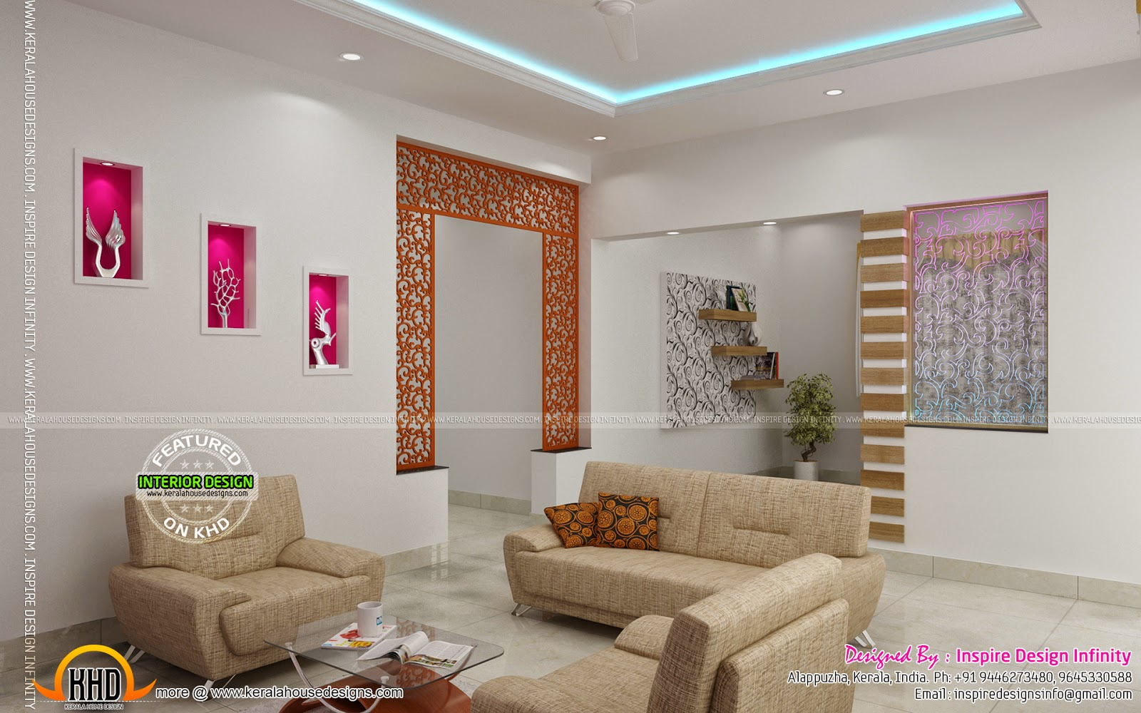Interior designs by inspire design infinity kerala home for Kerala interior designs