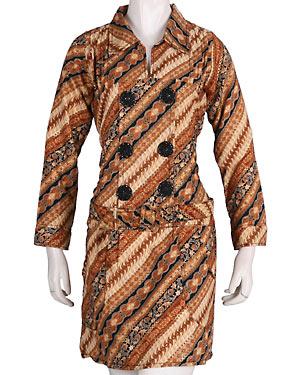 Model Kemeja Batik Model Baju Kemeja Batik Wanita