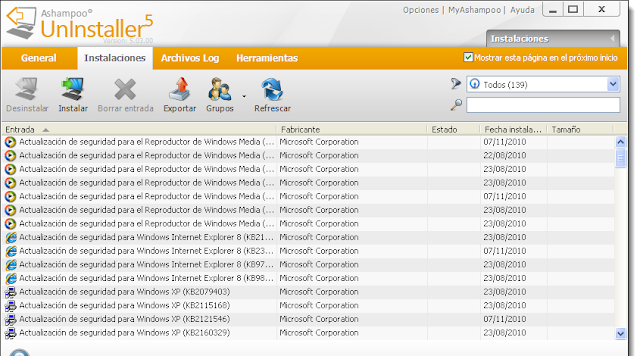 Ashampoo UnInstaller Version 5.03.00 Final Español