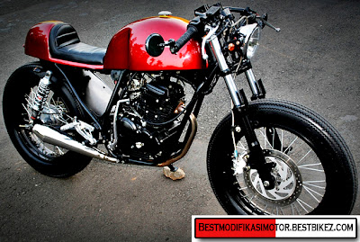 Modifikasi Yamaha Scorpio Cafe Racer 2012