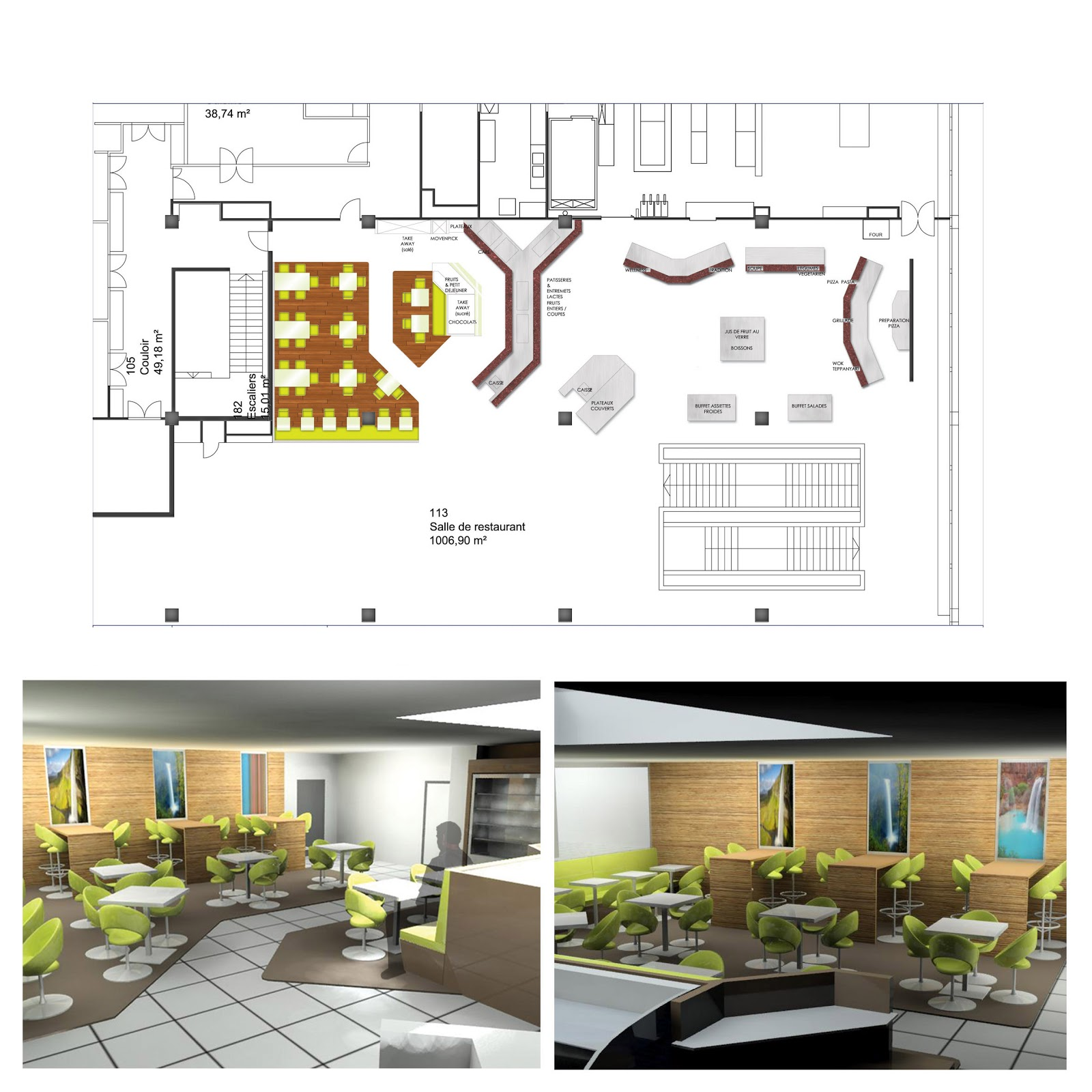 Laure Marcon Architecte d\'intérieur: Aménagement restaurant
