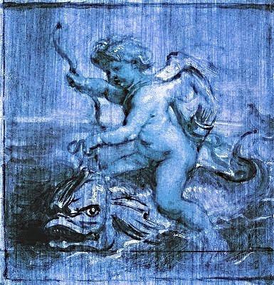 Cupido cavalcant sobre un dofí (Peter Paul Rubens)