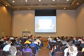 My talk at Codemash with a pretty packed room