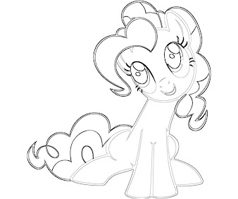 #4 Pinkie Pie Coloring Page