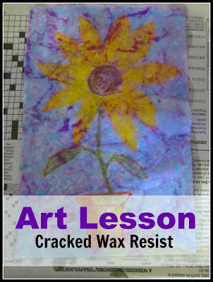 Art Lesson: Cracked Wax Resist-The Unlikely Homeschool