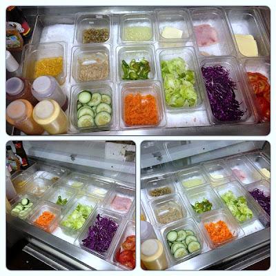 Kalil's Burger: Ingredientes para a montagem do Hambúrguer ou Salada