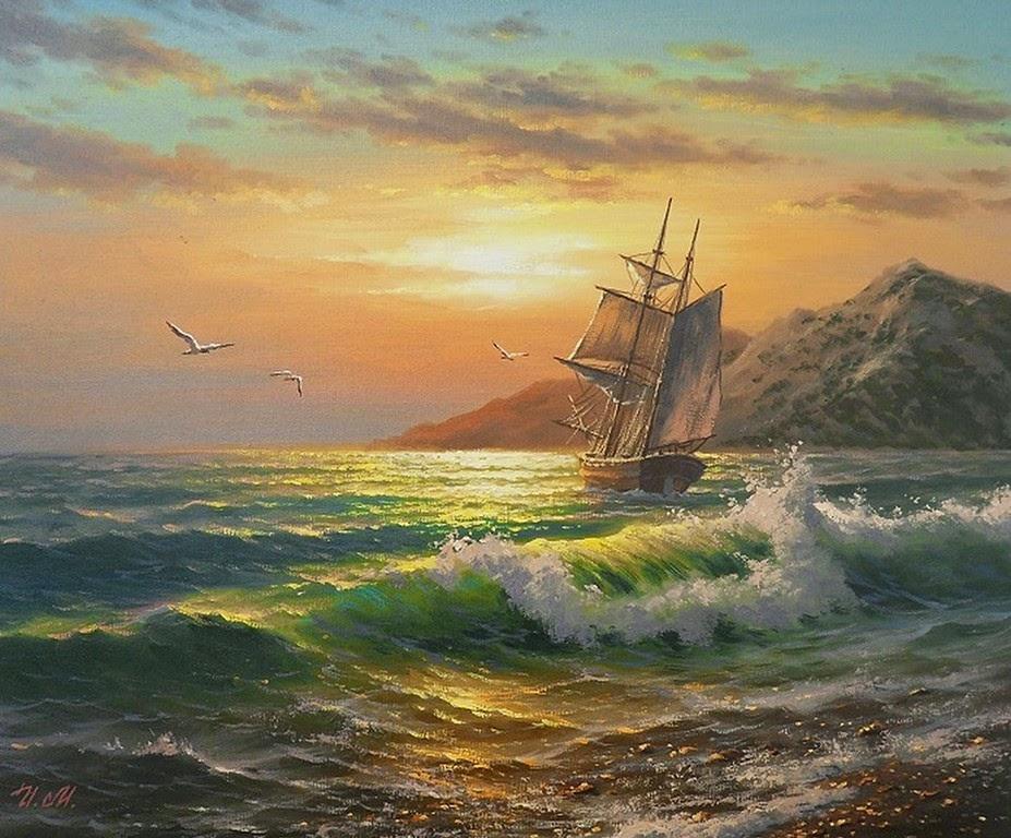 pinturas-del-mar-con-barcos-de-vela