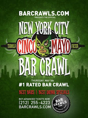 Cinco de Mayo Bar Crawl NYC