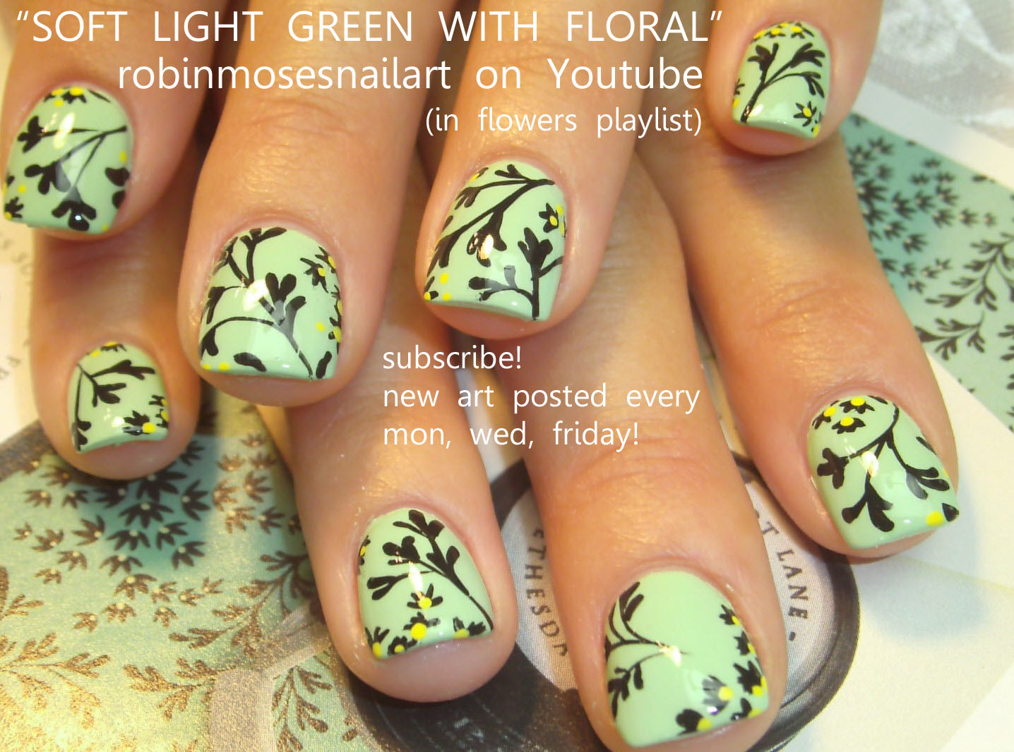 Robin moses nail art am i weird yes so what rainbow nails easy black flower nail art on short mint gr prinsesfo Gallery