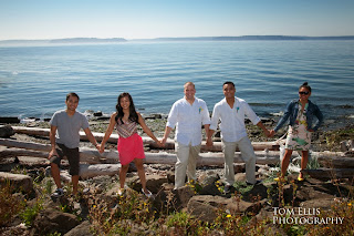 Jeff, Ian & friends celebrate the wedding - Ceremony officiated by Patricia Stimac, Seattle Elope