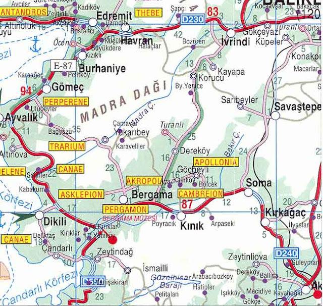 Bergama maps