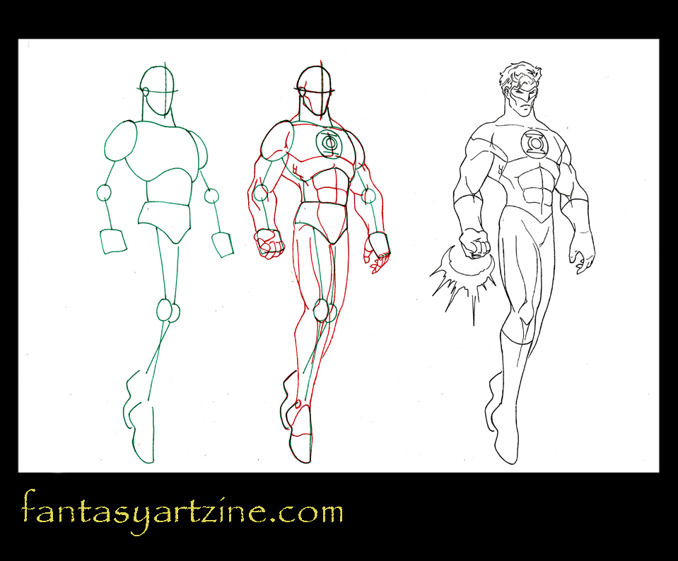 How to draw fantasy how to draw green lantern dc comics superhero