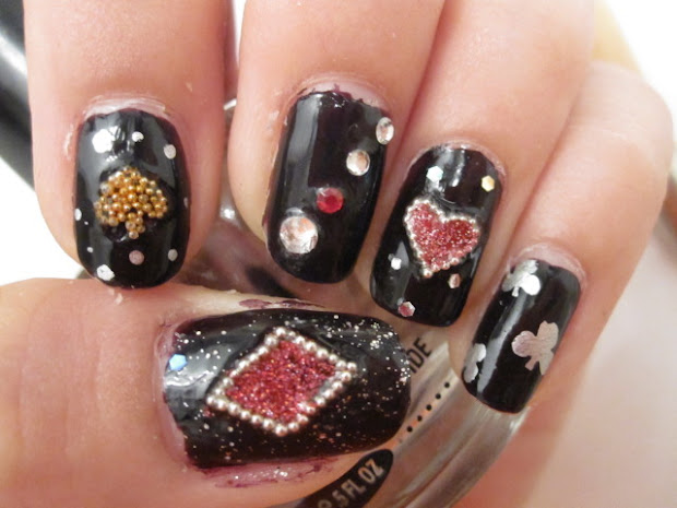 beauty nail art lady gaga