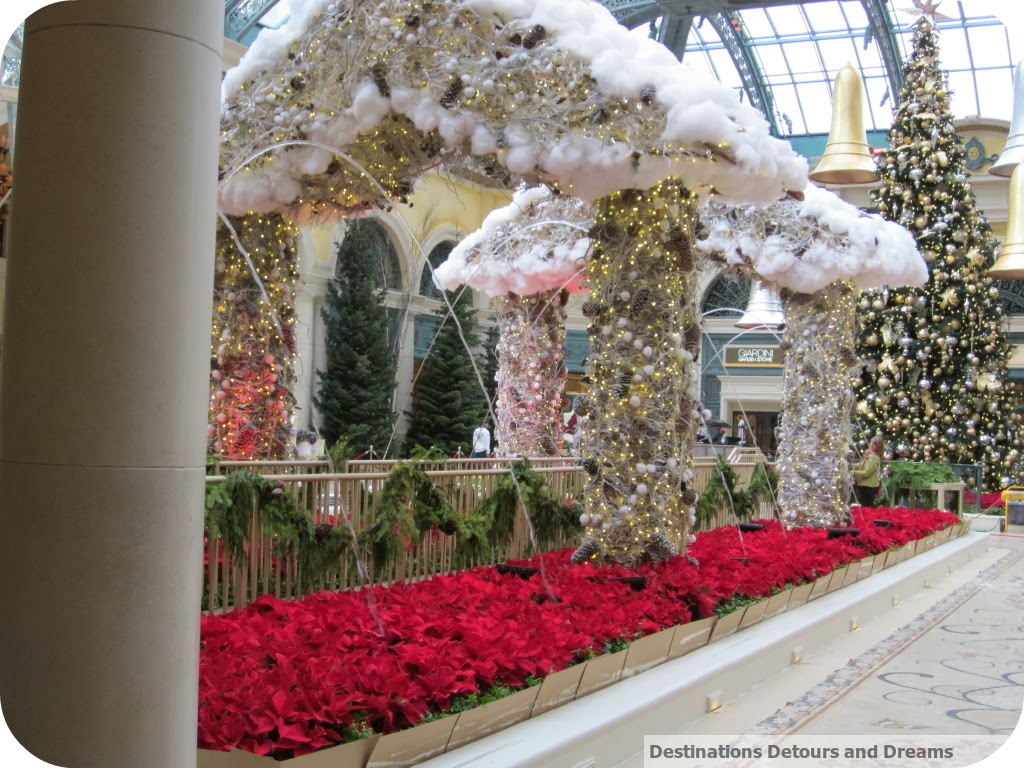 Bellagio gardens decked out for Christmas