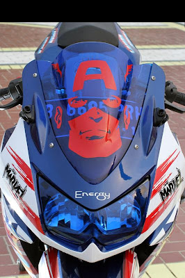 Modifikasi Kawasaki ninja 250R- Captain Amrika