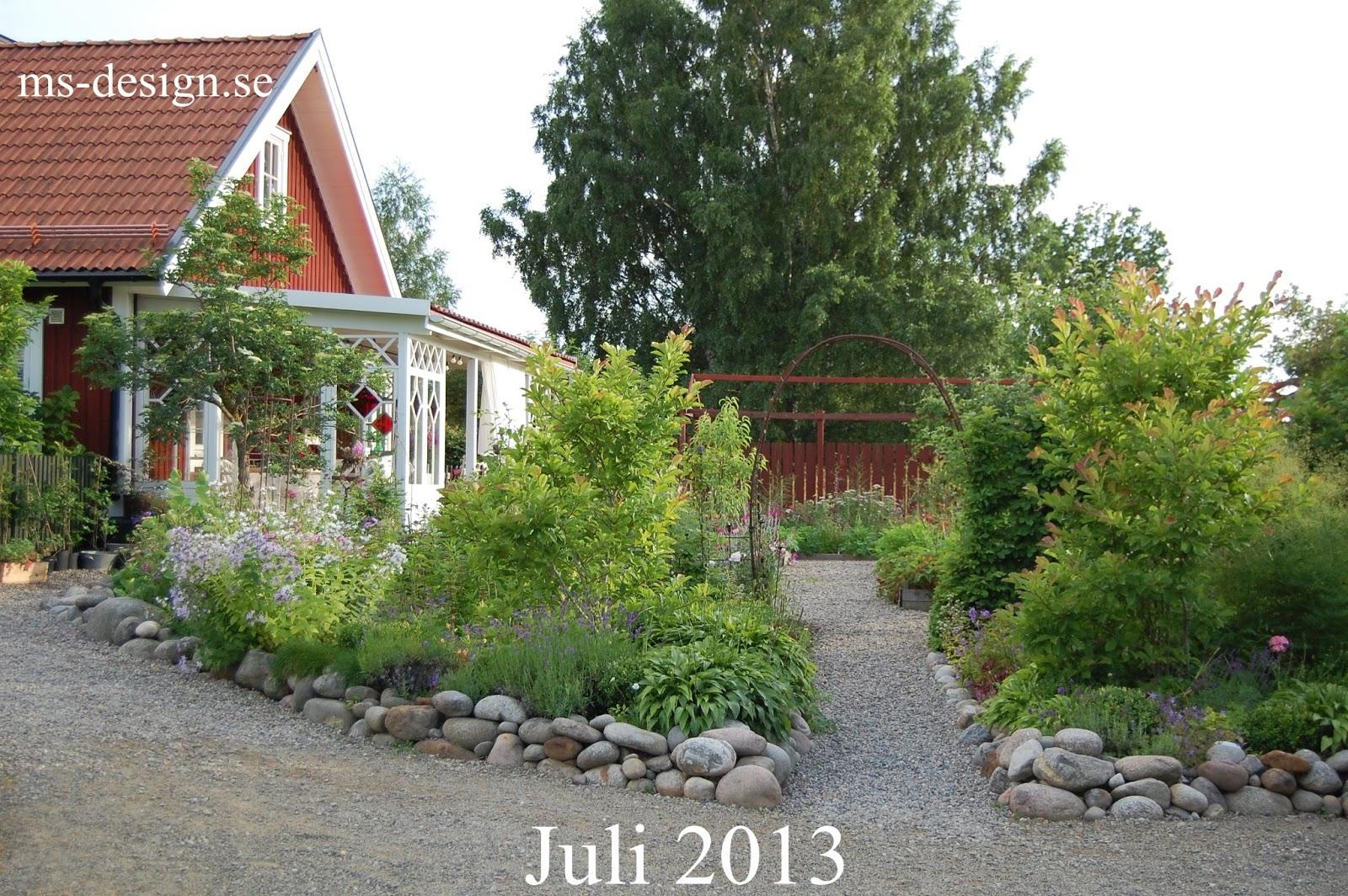 M/s design trädgård och keramik: försenad månadsbild och mer staket...