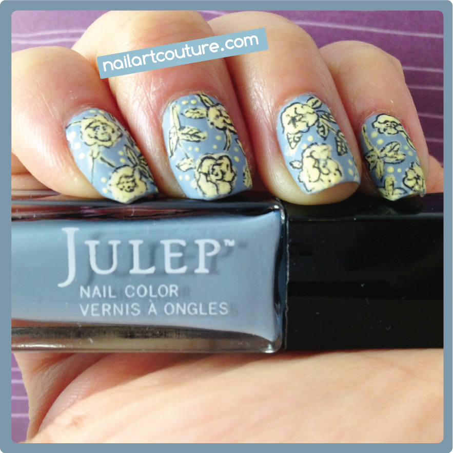 Nail Art Couture★ !: Vintage Floral Nail Art