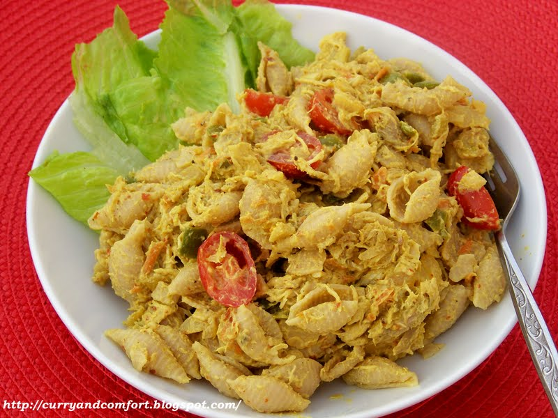 Kitchen Simmer: Asian Curried Chicken Salad with Pasta