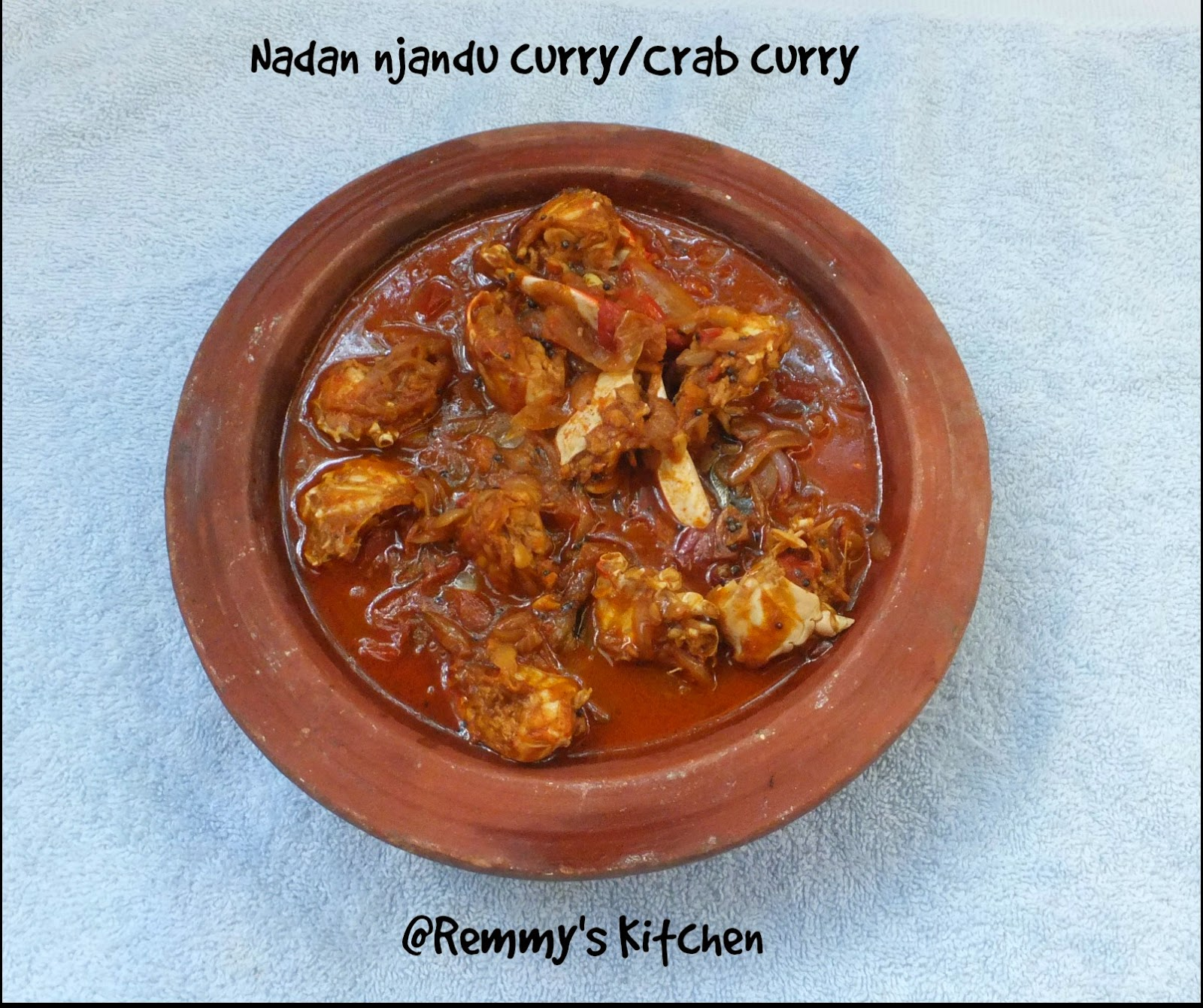 Nadan Njandu curry/Kerala Crab curry