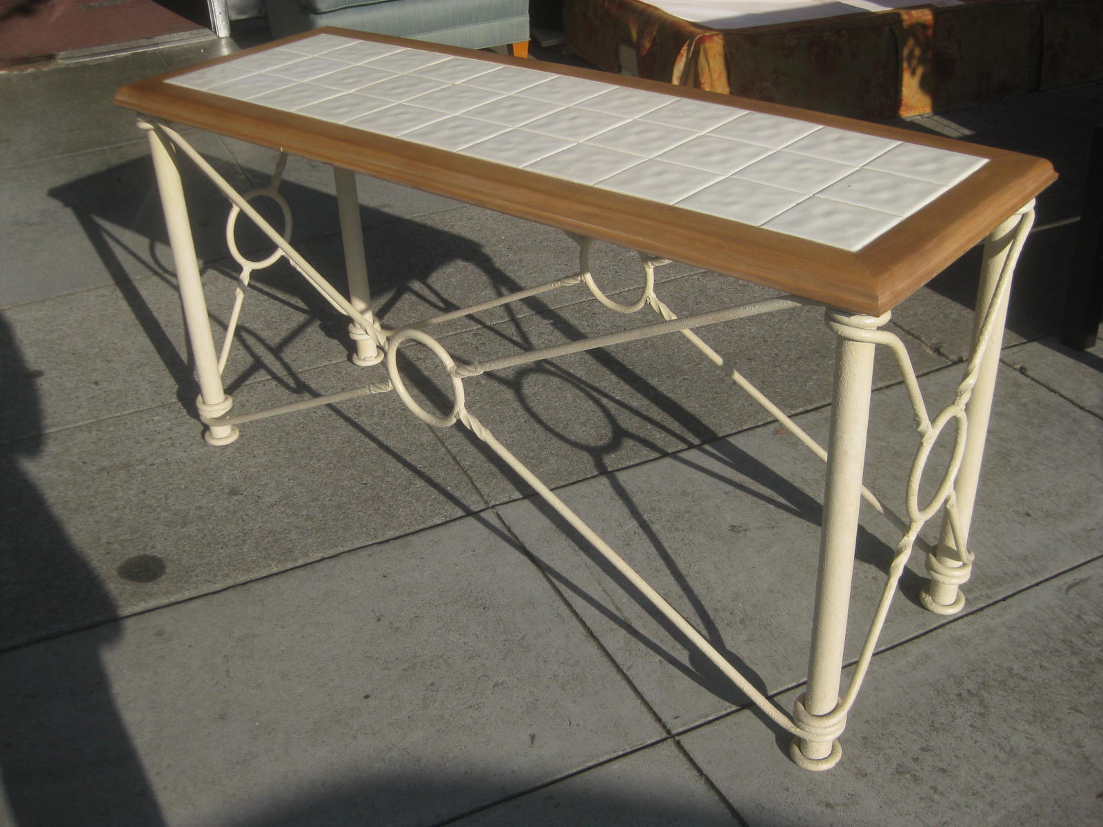 Tiled Console Table ~ Uhuru furniture collectibles sold tile top console