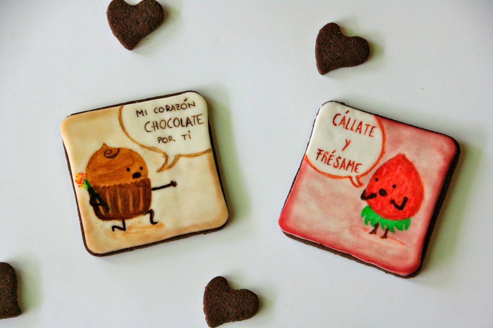 Galletas con humor para el dia de los enamorados