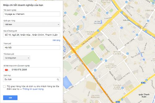 Xác minh hiển thị sao cho google
