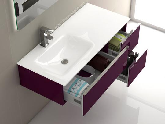 Mueble duo 105 seno desplazado tu cocina y ba o - Muebles para lavabos con pie ...