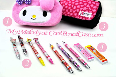 sanrio school supplies at CoolPencilCase.com