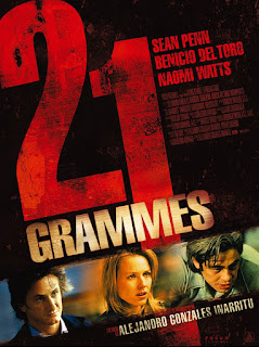 21 Grams, Movie Poster, Naomi Watts, Sean Penn, Benicio Del Toro, directed by Alejandro Gonzalez Inarritu