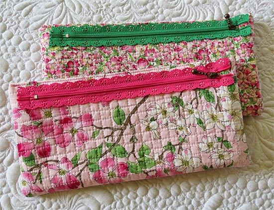 Quick and Easy Lace zipper Pouch