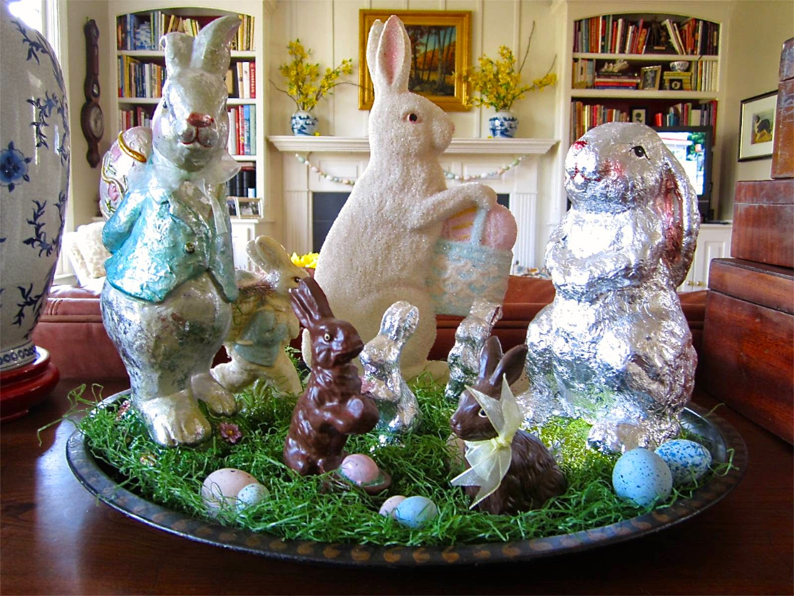 chocolate bunny display