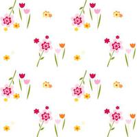 orange pink floral pattern