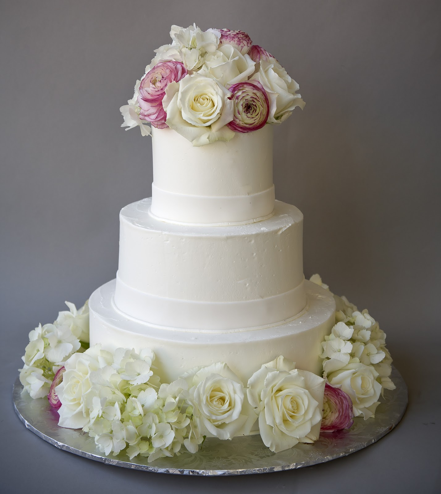 A Simple Cake Fresh Flowers For Wedding Cakes