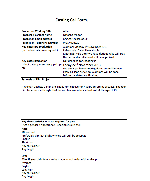 Ime casting call pronofoot35fo Choice Image