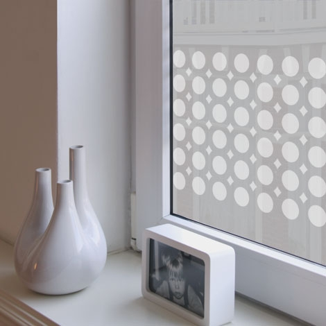 Huys91 voor op het raam for Plakplastic raam