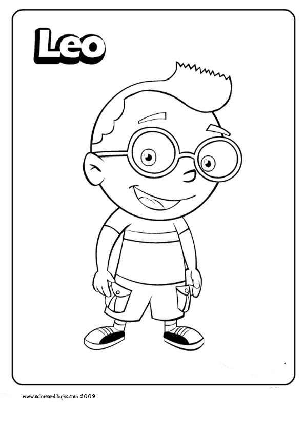 LAMINAS PARA COLOREAR - COLORING PAGES: The Little Einstein (los ...