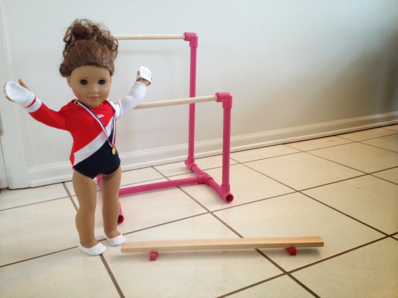 Two it yourself diy american girl gymnastics bar solutioingenieria Images