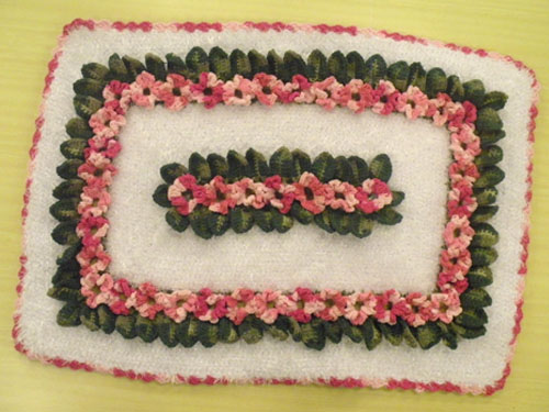 Tapete Floral Marcelo Nunes : Tapete floral em croch?