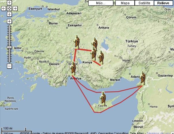 Entre rejas los viajes de san pablo primer viaje for Cuarto viaje de san pablo