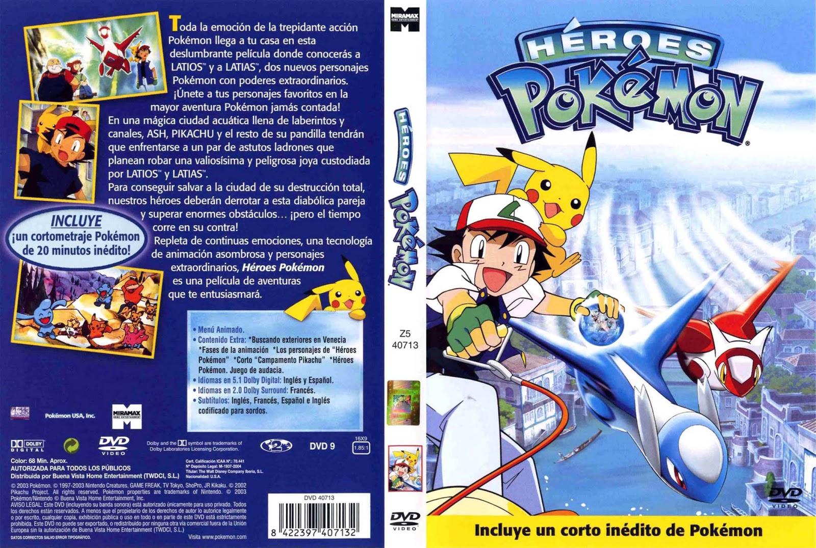 Heroes_Pokemon-Caratula - [DD] Pokémon Película 5 Héroes Pokémon: Latios y Latias - Anime Ligero [Descargas]