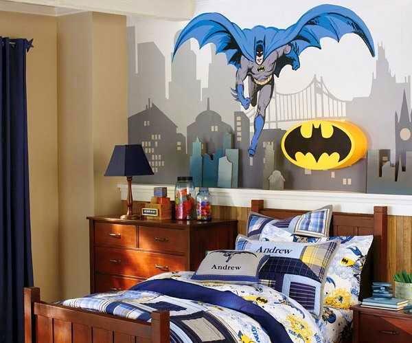 Desain Kamar Anak Laki-Laki Bertema Batman