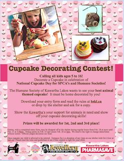 image Humane Society Kawartha Lakes Cupcake Contest poster