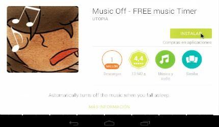 app para apagar android - musica actividad