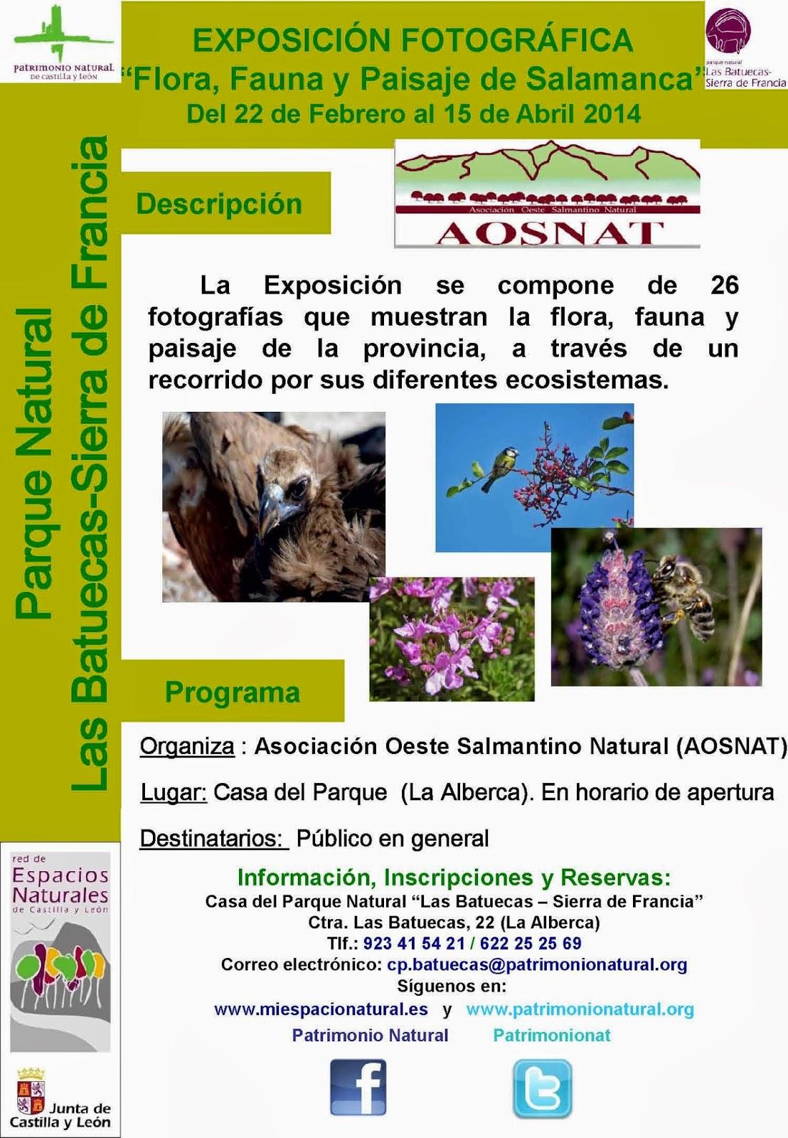 24/Feb-15/Abr (hasta): Exposición. Flora, Fauna y Paisaje de Salamanca. La Alberca