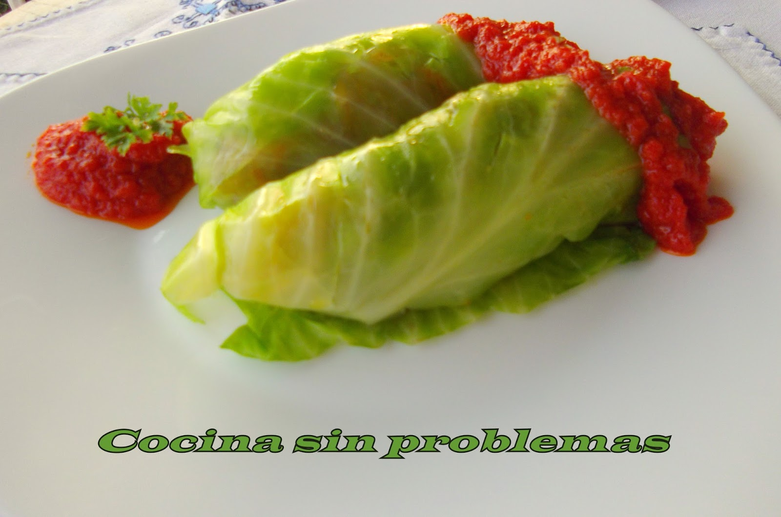cocina sin problemas: Col rellena de verdura.
